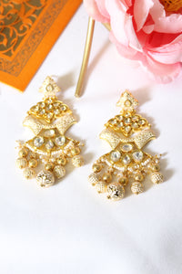 White meenakari studded with kundan