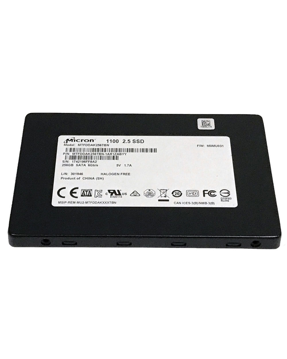 "256GB - Micron 1100 2.5"" Internal Solid State Drive"