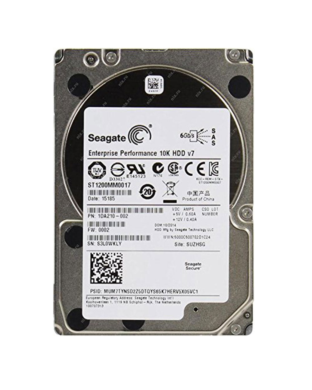 1.2TB - Seagate Enterprise SAS 6Gbs 2.5inch - ST1200MM0017