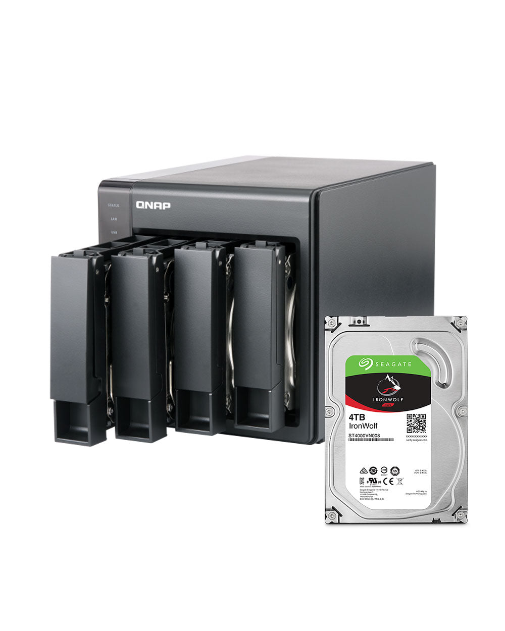 QNAP TS-451+ 2GB 16TB with 4TB Seagate IronWolf Drives