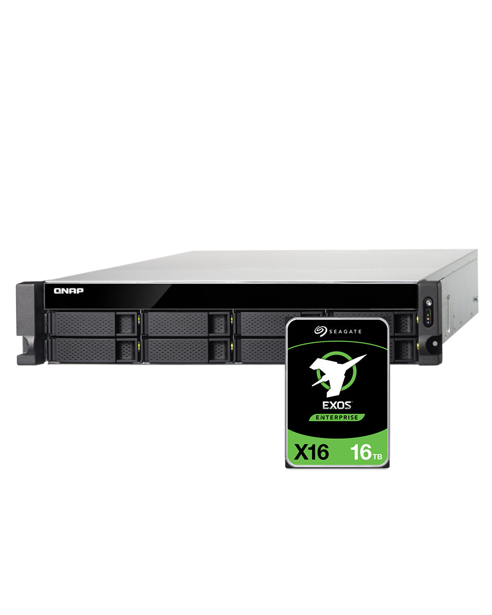 QNAP TS-883XU-RP-E2124-8G 64TB with 16TB Seagate Exos Drives