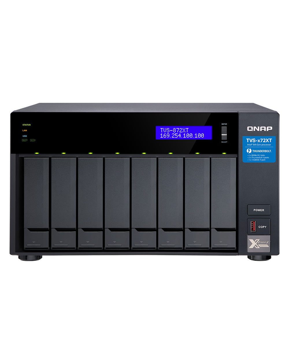 QNAP TVS-872XT-i5-32G RAM upgrade 8 Bay Diskless NAS