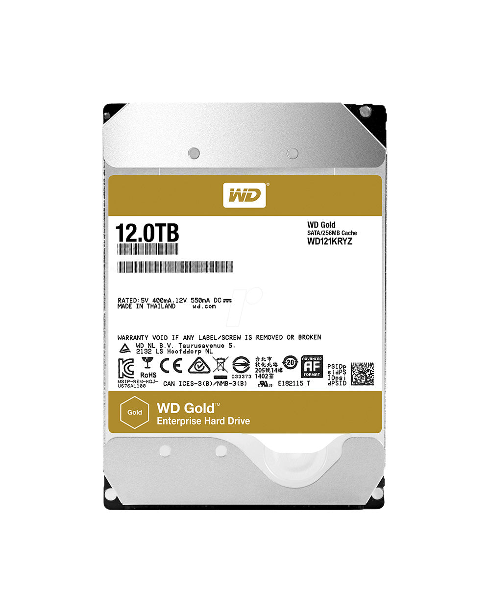 12TB - WD Gold Enterprise - WD121KRYZ