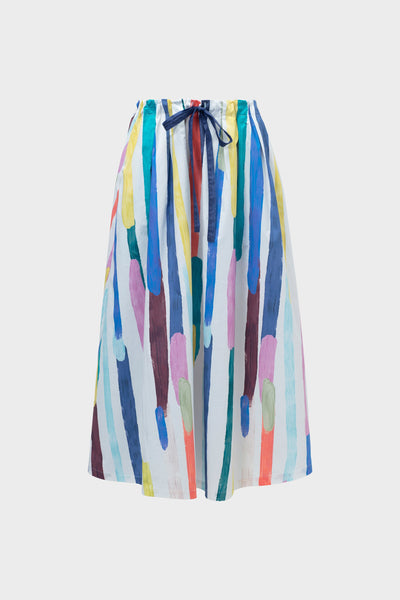 Elme Organic Cotton Printed Skirt Front