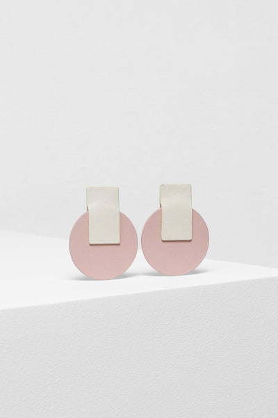 Anni Recycled Leather Earrings IVORY NUDE