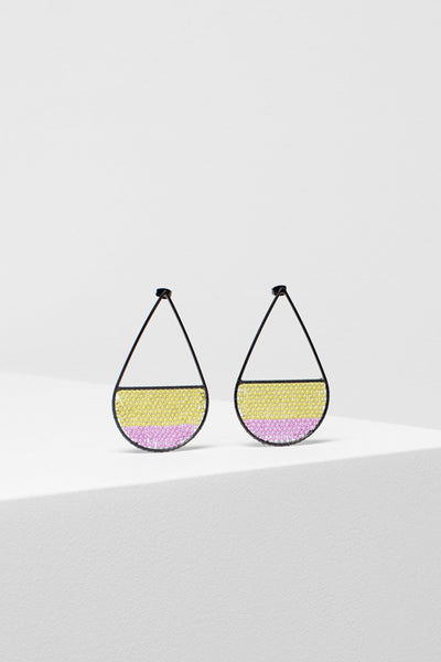 Jens Seed Bead Drop Earring Front LAVENDER/CITRONELLE