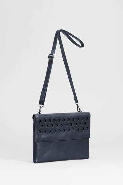 Barta Small Leather Bag Front | BLACK