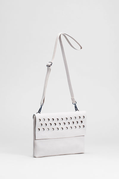Barta Small Leather Bag Front | BLANC