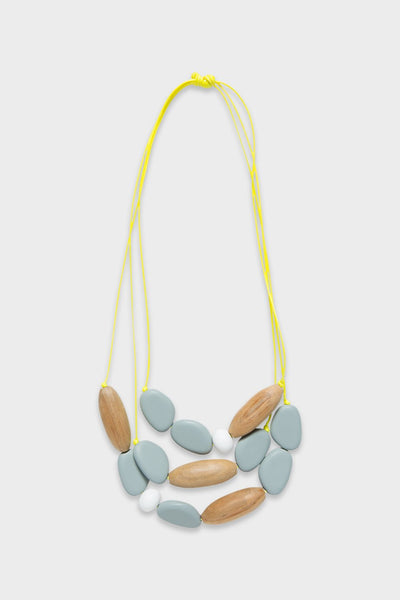 3 Strand Pod Resin Necklace