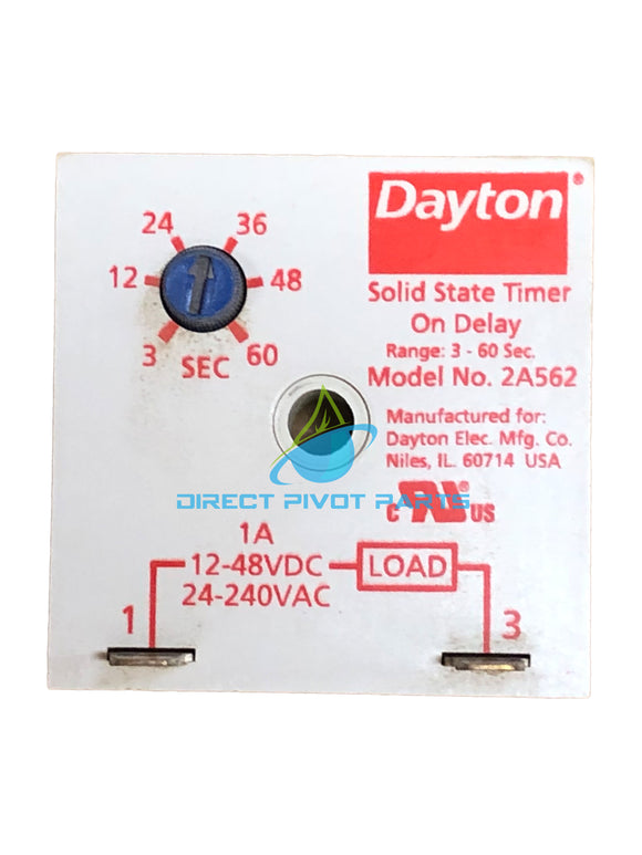 Dayton 2A562 On Delay Timer 3-60 Sec-1