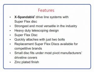 xspandable drive shaft feature