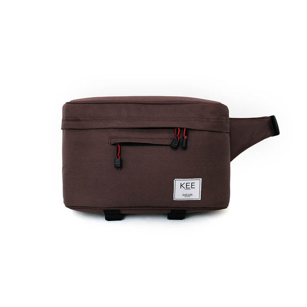 {KEE INDONESIA}-{Beetle Camera Sling Bag Brown}-{Beetle Edition}