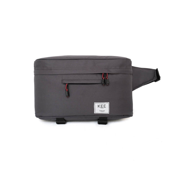 {KEE INDONESIA}-{Beetle Camera Sling Bag Dark Grey}-{Beetle Edition}