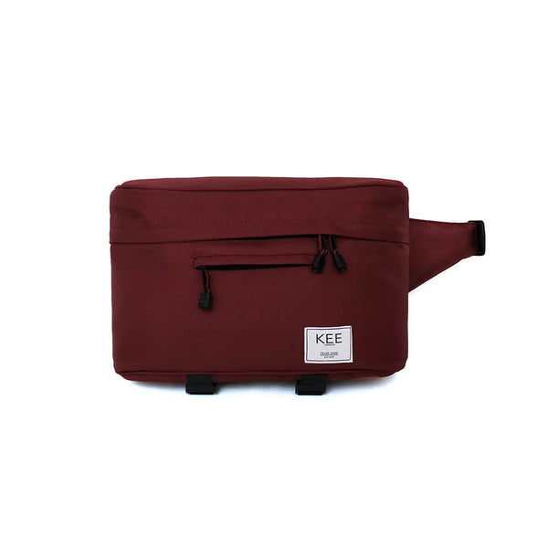 {KEE INDONESIA}-{Beetle Camera Sling Bag Maroon}-{Beetle Edition}