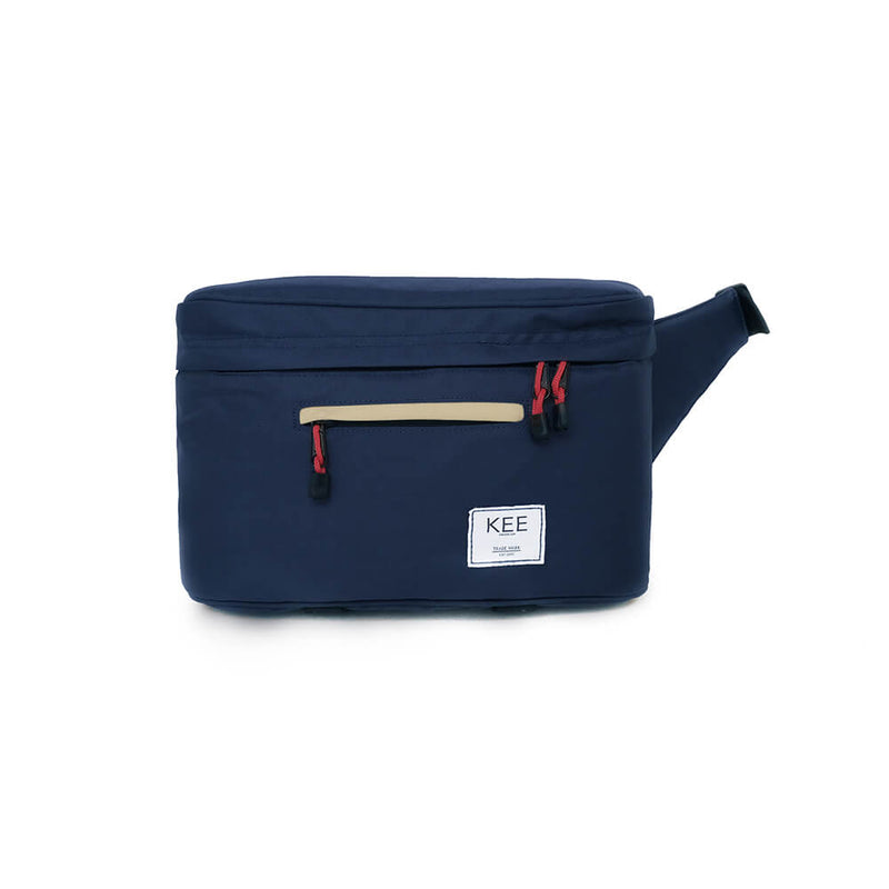 {KEE INDONESIA}-{Beetle Camera Sling Bag Navy Cream}-{Beetle Edition}