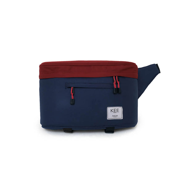 kee-indonesia-Beetle Camera Sling Bag Navy Maroon