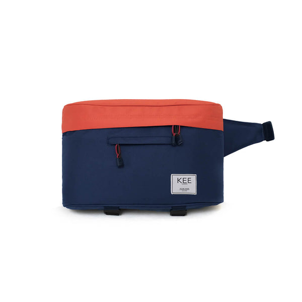 {KEE INDONESIA}-{Beetle Camera Sling Bag Navy Orange}-{Beetle Edition}