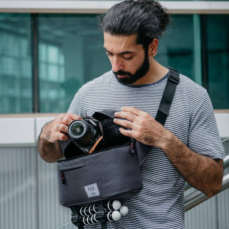kee-indonesia-Beetle Camera Sling Bag Dark Grey