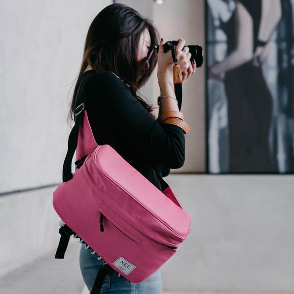 {KEE INDONESIA}-{Beetle Camera Sling Bag Pink}-{Beetle Edition}