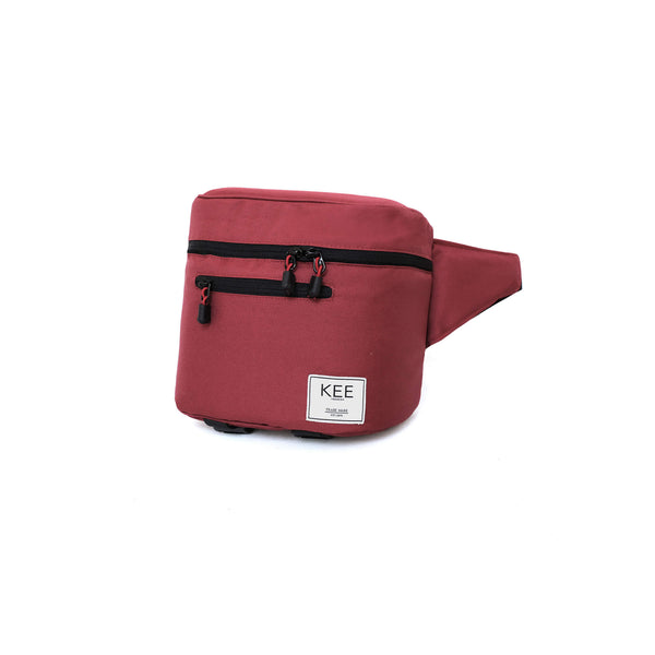 {KEE INDONESIA}-{Baby Beetle Camera Sling Bag Maroon}-{Baby Beetle Edition}