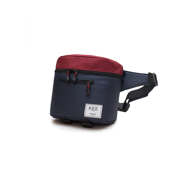 {KEE INDONESIA}-{Baby Beetle Camera Sling Bag Navy Maroon}-{Baby Beetle Edition}