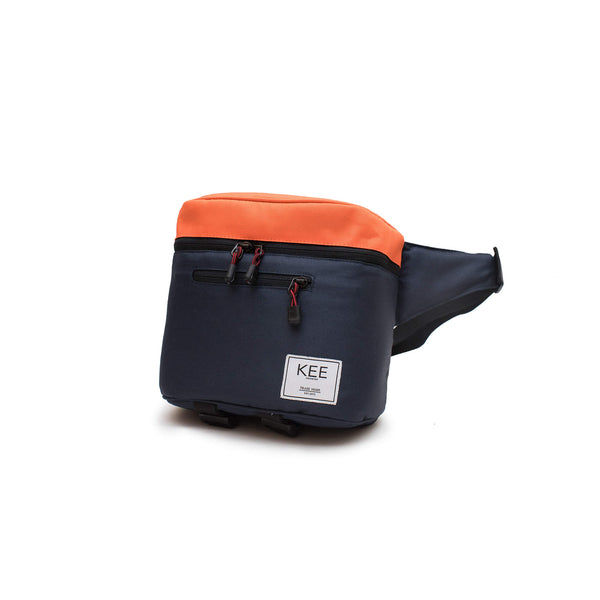 {KEE INDONESIA}-{Baby Beetle Camera Sling Bag Navy Orange}-{Baby Beetle Edition}
