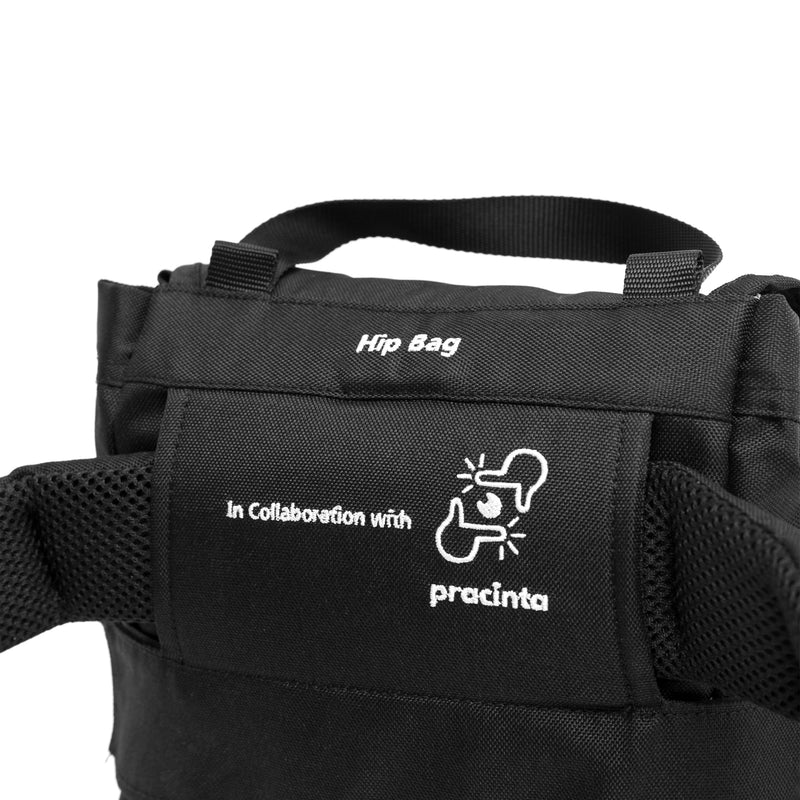 Hip Bag + Adaptable Belt Black [ M ] | Collaboration with Pracinta-KEE INDONESIA