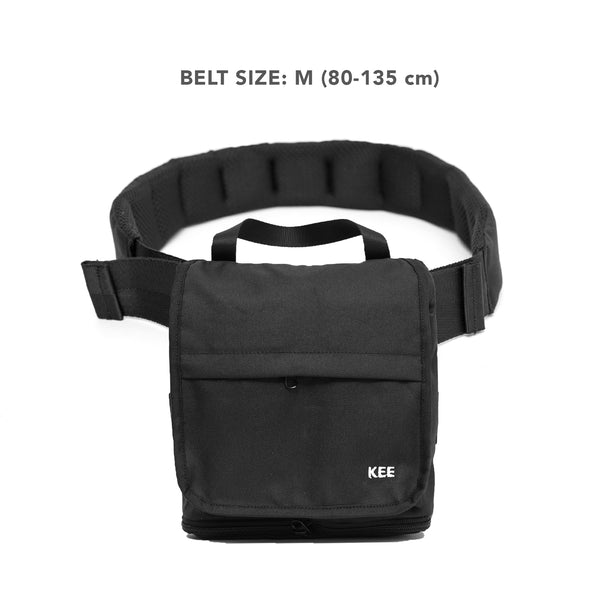 kee-indonesia-Hip Bag + Adaptable Belt Black [ M ] | Collaboration with Pracinta.
