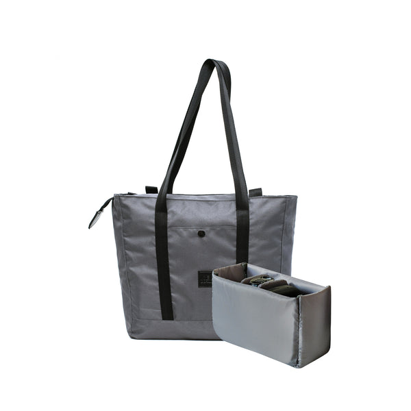 kee-indonesia-Lila 2.0 Tote Bag Dark Grey + Camera Insert | Collaboration with DO-ART.