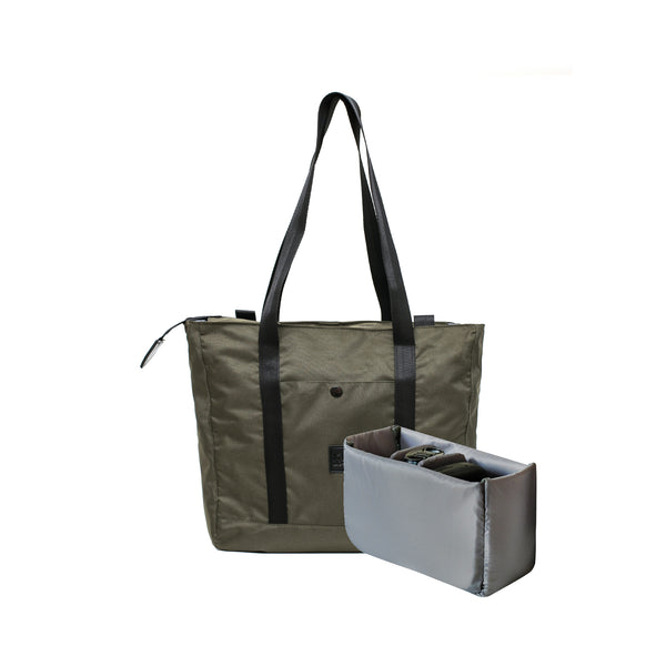 Lila 2.0 Tote Bag Green + Camera Insert | Collaboration with DO-ART-KEE INDONESIA