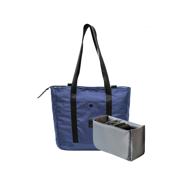 Lila 2.0 Tote Bag Navy + Camera Insert | Collaboration with DO-ART-KEE INDONESIA