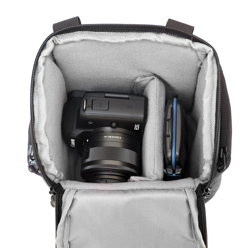 {KEE INDONESIA}-{Larvae 2.0 Camera Sling Bag Dark Grey}-{Larvae Edition 2.0}