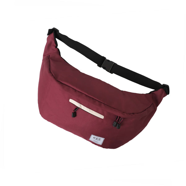{KEE INDONESIA}-{Thrips Sling Bag Maroon Cream}-{Thrips Edition}