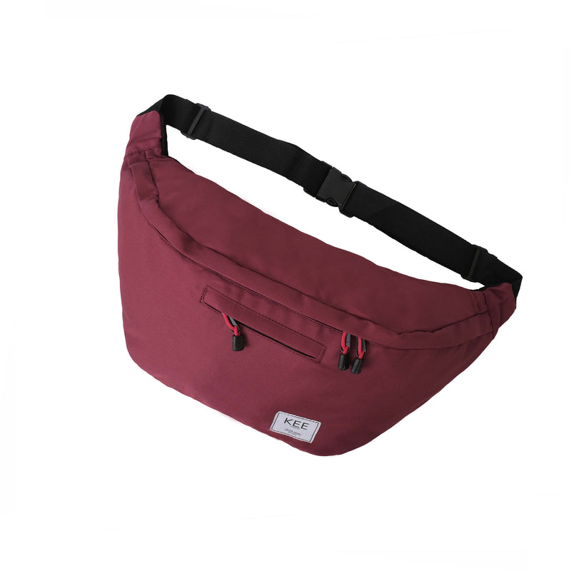 {KEE INDONESIA}-{Thrips Sling Bag Maroon}-{Thrips Edition}