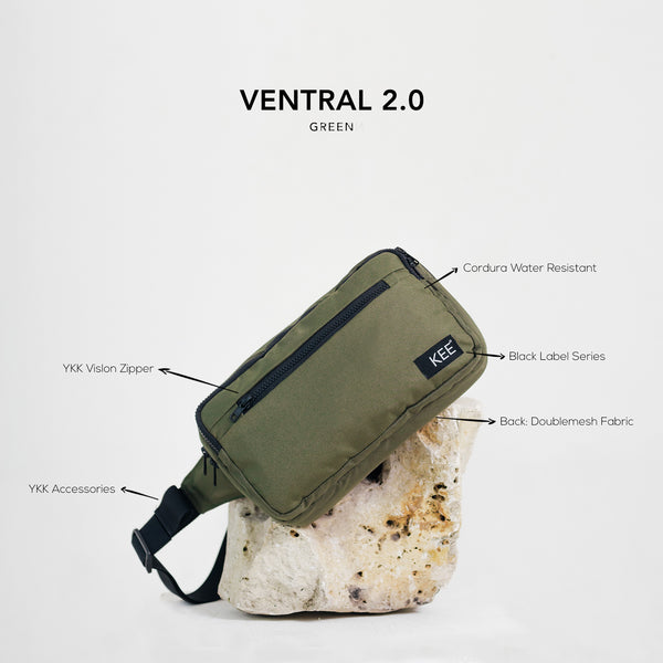Ventral 2.0 Sling Bag Green-KEE INDONESIA