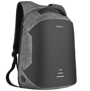 Anti Theft Laptop Backpack Usb Charging Port Gray / China