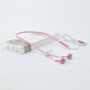 Glowing Earphone with Metal Zipper