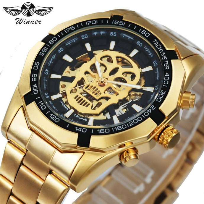 Skull Design Mechanical Watch for Men