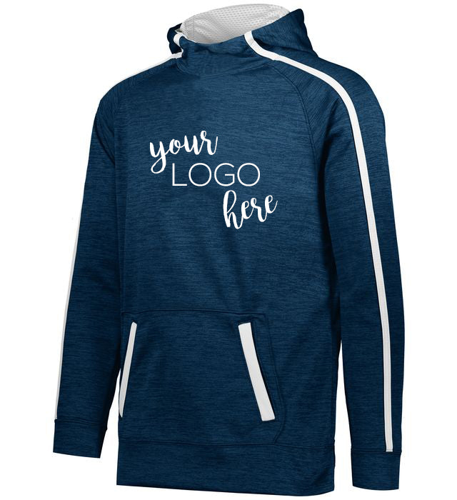 Mock Shop Two Toned Performance Fleece Hoodie - navy/white