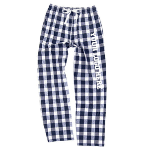 Mock Shop Flannel Pants - navy/natural buffalo