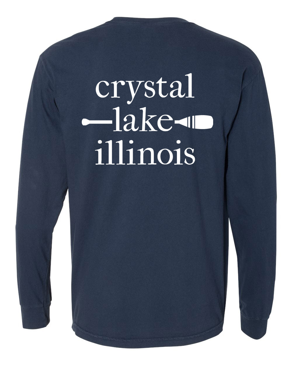 IN STOCK NOW! - Lake Life Paddle Long Sleeve Pocket Tee - navy