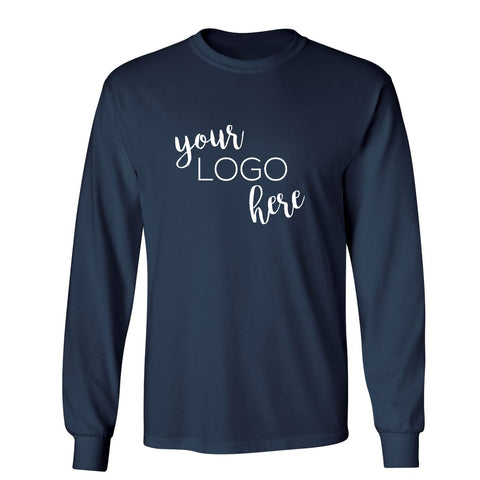 Mock Shop Long Sleeve Tee-navy