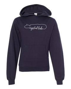 IN STOCK NOW! - Lake Life Crystal Lake Special Blend Raglan Hoodie - classic navy