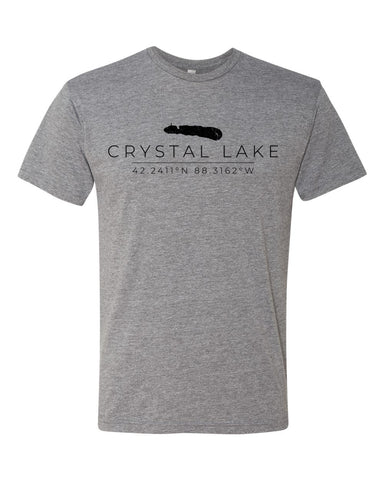 IN STOCK NOW! - Lake Life Coordinates Triblend Tee - premium heather