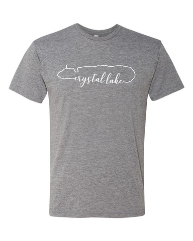 IN STOCK NOW! - Lake Life Crystal Lake Triblend Tee - premium heather