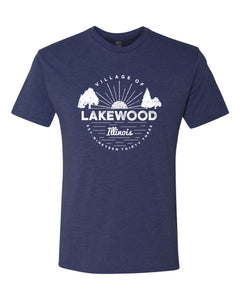 IN STOCK NOW! - Lake Life Lakewood Sunset Triblend Tee - vintage navy