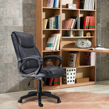 Mysuntown Ergonomic High Back PU Leather Office Chair Task Chair Executive Swivel Chair Adjustable Height