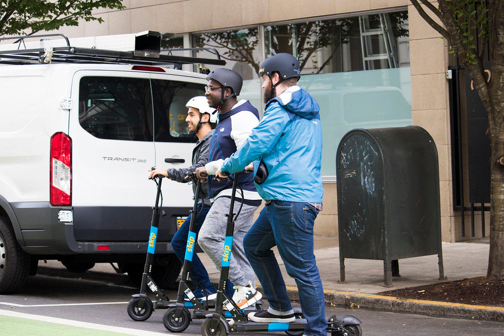 ride sharing vs electric scooters