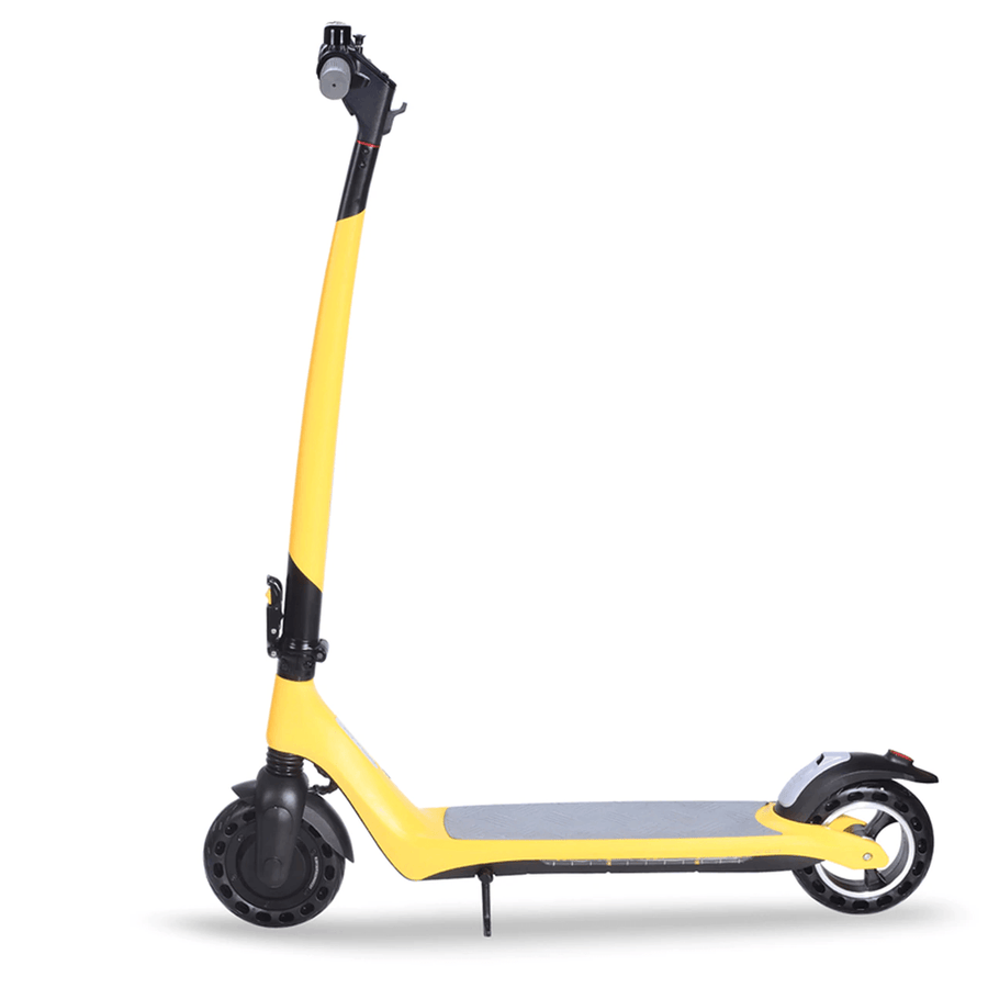 joyor a3 a5 electric scooter yellow reverse side