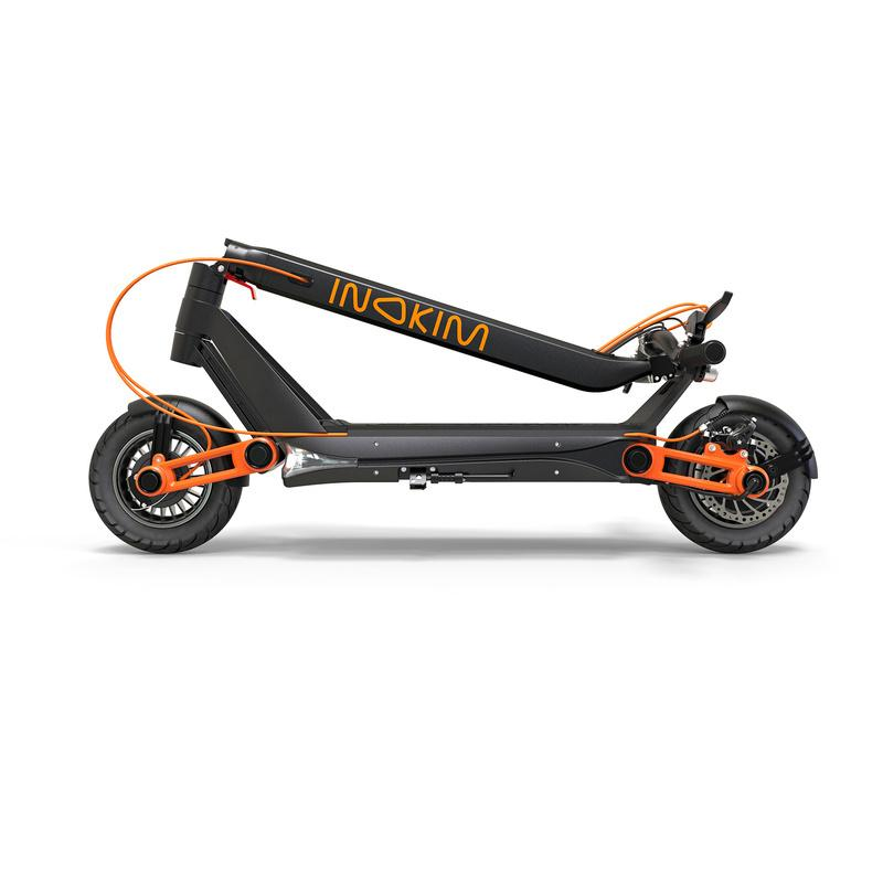 Folded Inokim Ox Eco e-scooter
